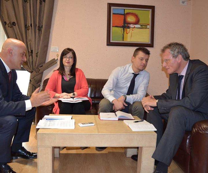 Mr. Arben Seferaj Received the President of the OSCE Presence in Albania Mr. Bernd Borchardt